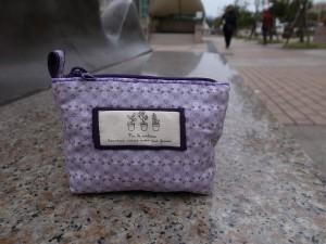 小紫花拉鍊零錢包